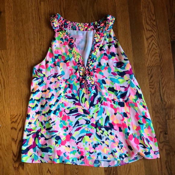 c2945410a3b67a Lilly Pulitzer Tops - Lilly Pulitzer Achelle Top, size medium.